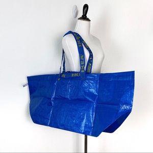 2 IKEA Frakta Large Blue Shopping Bag Tote 19 Gal